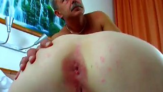 innocent babe takes old cock