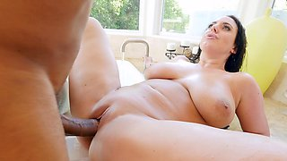 Marvelous MILF blacked in the soapy tub