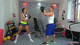 Hrdcore fucking in the gym with hot ass brunette Cassie Del Isla