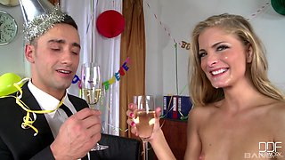 Irresistible Cherry Jul can't resist playing with a delicious dick