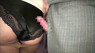 Cum on her black panties