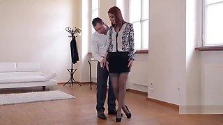 pantyhose footjob when danceing
