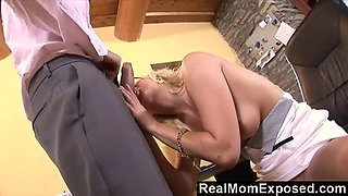 RealMomExposed - Milf neglects her job but certainly not the