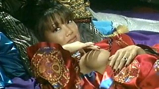 Mesmerizing and majestic classic Asian milf with two men