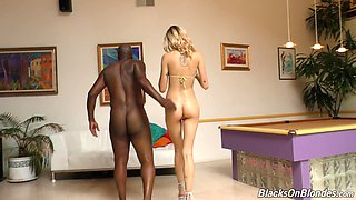 Blonde girl Haley Reed needs a big black cock in her to feel something