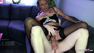 German Mother Jenny Seduce Huge Cock Friend of Daughter Fuck