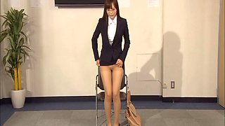 Horny office assistant haves her boss salvage her from dying horny