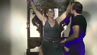 Naughty mature white lady is excited about softcore BDSM