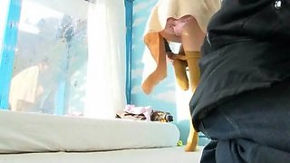 Incredible Japanese whore Anna Momoi, Nozomi Wakui in Amazing Girlfriend, Public JAV video