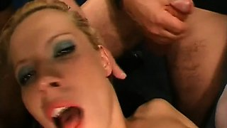 Smoking sexy group sex with loads of vagina bangings