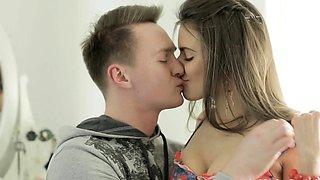 Spicy teen russian diva Gabi and stud fuck rough