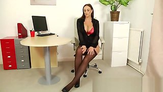 Stacey Poole: Oh My! Office Secretary has Big Tits! [HD]