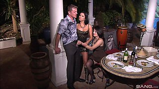 Renata Black shares her husband's big dick with her classy friend