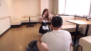 Aika is a cock hungry maid enjoying her cock treat
