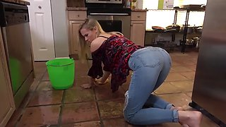 Fucking stepmom in kitchen