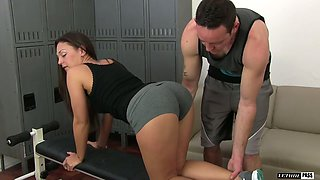 Fitness gal Olivia Wilder gets intimate with horny fitness instructor