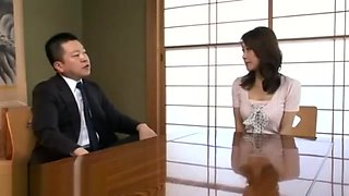 Japanese wife got fucked by husband's boss