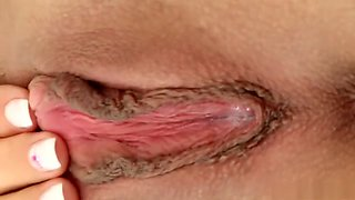 Blonde Sabina B is a good sport showing and toy fucking her pink hole