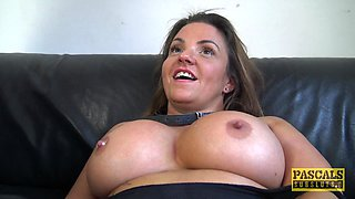 Smoking hot Sienna Hudson gets her cunt stretched with a fat pecker