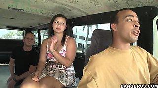 Isabella Bones has fun in bang bus