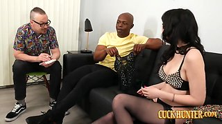 Horny Housewife April Storm Offers Herself To Big Black Cock Cuckold