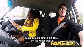 Fake Driving School Hot Ebony Jai James