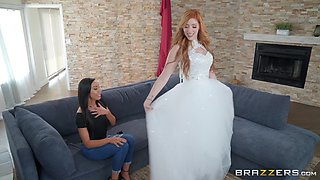 Redhead future bride Lauren Phillips pounded and cum sprayed
