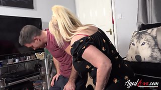 AgedLovE Handy Guy Alexei Jackson and Horny Blonde Mature Wendy