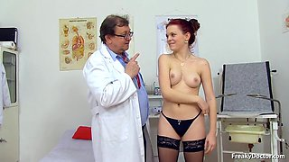 Old Obese Doctor Takes Care Of His Young Patients Pussy