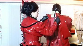 Incredible homemade Latex, BDSM sex video