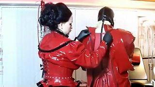 Incredible homemade Latex, BDSM sex video