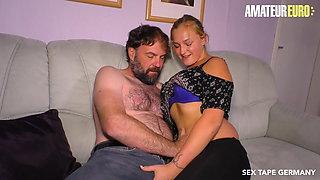 AmateurEuro - Naughty Teen Scarlett Scott Rides Daddy On Cam