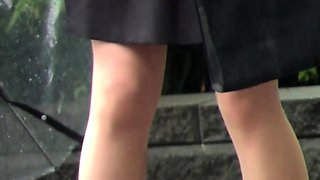 Fetish asian babes stop and piss on street