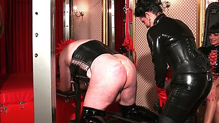 Brutal and nasty BDSM group sex with Miss Chantalle and Lady Nancy