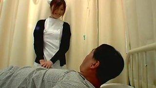 Exotic Japanese whore Emi Yoshida in Crazy Nurse, Hairy JAV movie