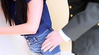 Stupefying cutie Athena Rayne getting banged