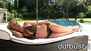 Ines Cudna in bikini and heels