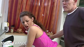Daughter hotpink dress fuck me daddy