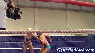 Smalltits wrestling dykes love oral