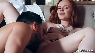 pawg redhead tricked a guy into passionate sex segment