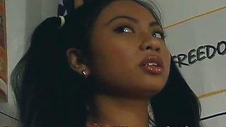 Teen asian girl punshied by the teacher