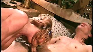 Dicking bosomy Janine enjoying her smooth warm private part