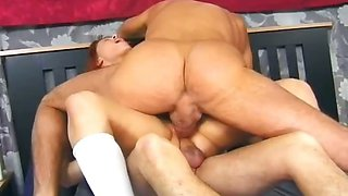 Babysitter loves to be double fucked