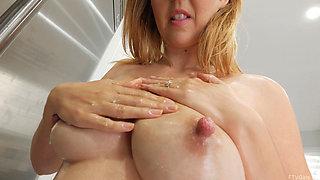 Aali Kali Rousseau milking her beautiful tits