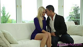 Small-titted Lindsay Olsen has a passionate lover who pleases her