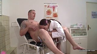German nurse a sperm sample and wants to fuck