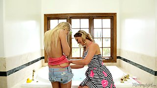 This gorgeous doll and her kinky beauty girl friend are seducing and licking each other