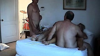 Horny mature swingers enjoy an explosion of wild group sex