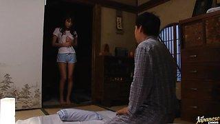 Unsatisfied Japanese Babe Masturbating Next To Her Sleeping Husband