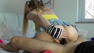 My schoolgirl sister tease me - Lea Mixx